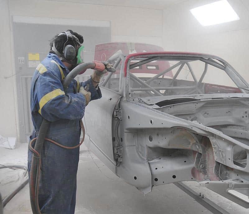 Пескоструйная обработка автомобиля